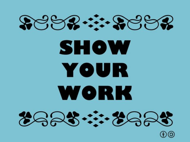 Show Your Work (Workshop 2) assignments